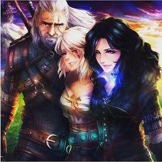The Witcher 3: Geralt, Ciri, Yennefer