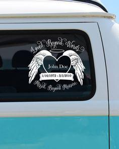 Loved Beyond Words Missed Beyond Measure - Car Decal - Memorial Car Decal - Loved Beyond Words - Love Decal - Custom Sticker by BrokeGirlGraphics on Etsy