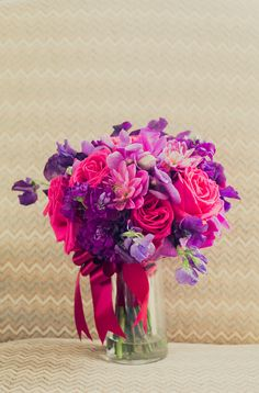 purple and pink wedding flower bouquet, bridal bouquet, wedding flowers, add pic source on comment and we will update it. www.myfloweraffair.com can create this beautiful wedding flower look.
