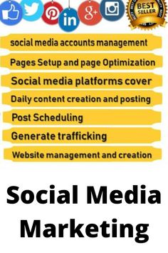 Social Media Services, Social Media Marketing, Digital Marketing, Page Setup, Competitive Analysis, Management, Relationship, Content