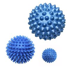 Footstar Massage Ball Bundle with the Blue Hard RhinoPro Ball & Blue Porcupine Massage Ball