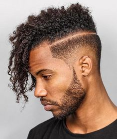 Drop Fade Haircut With Afro Undercut