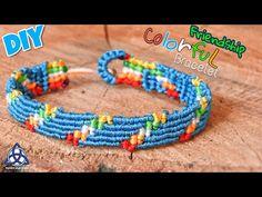 Colorful Friendship Bracelet DIY - Easy Macrame Craft - YouTube