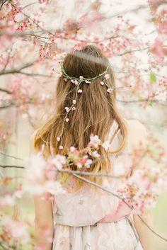 Sakura Waterfall Flower Crown