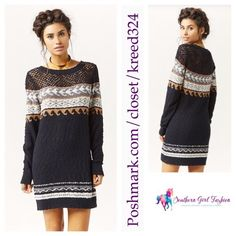 """FREE PEOPLE Tunic Long Sleeve Sweater Mini Dress Size M/L. New with tags. $176 Retail + Tax.  Textured cotton sweater dress with ribbed hems.  Semi sheer/unlined.  By Eternal Sunshine Creations for Free People.   Measurements for M/L:  Bust: 38"""" Length: 32"""" Sleeve Length: 27.5""""   ❗️ Please - no trades, PP, holds, or Modeling.    Bundle 2+ items for a 20% discount!    Stop by my closet for even more items from this brand!  ✔️ PRICE IS FIRM. No offers please. Free People Dresses"""
