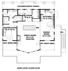 Bungalow Contemporary Cottage Traditional Level One of Plan 85242
