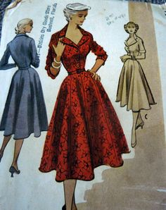 Vintage McCall's sewing Pattern 8787 coat dress flared skirt
