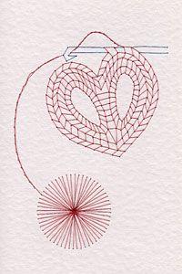 Crochet pattern at Stitching Cards