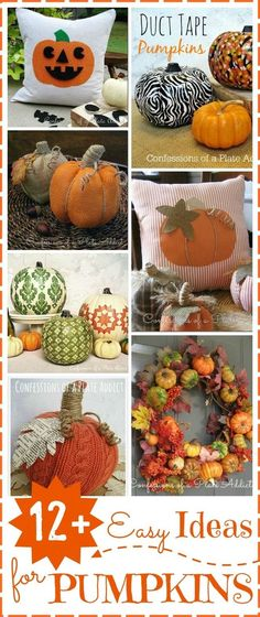 CONFESSIONS OF A PLATE ADDICT 12  Easy Ideas for Pumpkins
