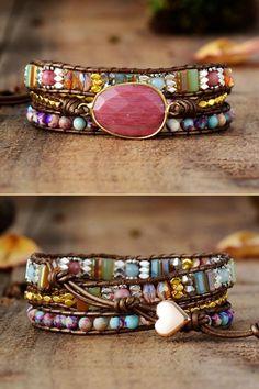 Gemstone Jewelry, Beaded Jewelry, Handmade Jewelry, Healing Rocks, Wire Wrapped Jewelry, Artisan Jewelry, Jewelry Crafts, Turquoise Bracelet, Cuff Bracelets