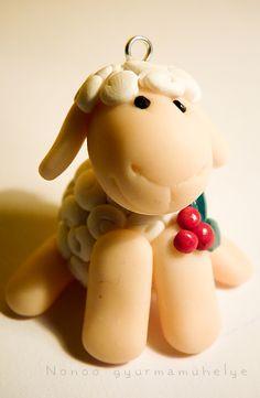 Polymer clay sheep by Nonoo