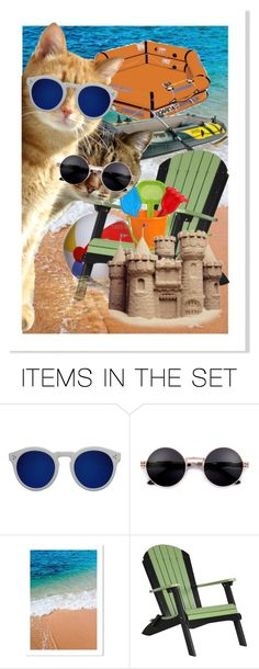 """""""... we're going to check out the next Beach ..."""" by daincyng ❤ liked on Polyvore featuring art and catinsunglasses"""