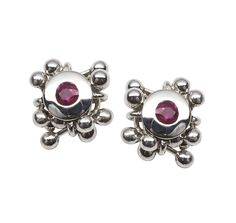 413770b931bd I ve just found Silver Ruby Stud Earrings. Handmade stud earrings with rich  rubies