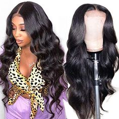 Amazon.com : Wingirl HD Lace Front Human Hair Wigs for Women Pre Plucked Hairline 220% Denisty Brazilian Body Wave Lace Front Wigs with Baby Hair Black Color(22inch wigs, 220% Denisty) : Beauty & Personal Care