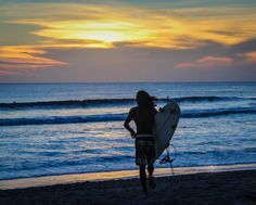 Kuta Sunset Beach Bali Indonesia http://www.divergenttravelers.com/top-10-places-visit-southeast-asia/