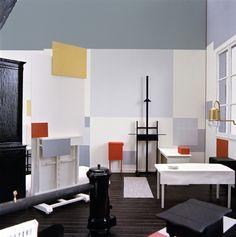 Reconstruccion de Frans Postma del estudio de Piet Mondrian en el nº 26 rue du Depart