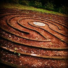 Labyrinth at Lichgate on High Road, Tallahassee, Florida (photographer Kimberly Bechtel). The dream of the late literature professor Laura Jepson, Lichgate is named after gates that separate the graveyard from the Church in England and spoke of her home being a place where one could travel back and forth between the land of the living and the land of the dead.  Property is open to visitors.