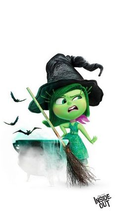 "Meet Disgust from Inside Out as she prepares for Halloween. Kids (and parents) can learn a lot about their emotional worlds from Inside Out, and how to cope with uncomfortable feelings. Watch Disney Pixar""s Inside Out on Disney Movies Anywhere Oct 13 and on Blu-ray Nov 3."