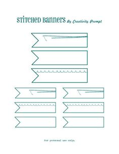 Free printable stitched banners by... me. #printable #labels