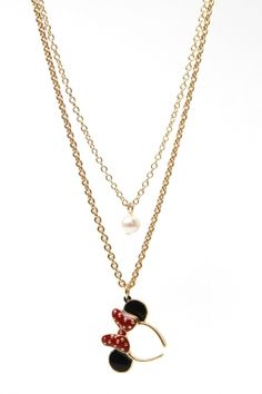 Minnie ear necklace. Love!