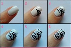 Zebra Nail Art Designs Beginners - Among the hottest general trends in nail trend is yellowish acrylic nails. It really is such a flexible color that it co Zebra Nail Art, Zebra Print Nails, Animal Nail Art, Nail Art Diy, Diy Nails, Diy Zebra Nails, Tiger Stripe Nails, Striped Nails, Tiger Stripes