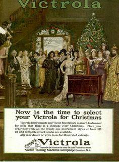 Vintage Advert for Victrola Gramophones (Christmas) 1923 |