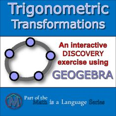 """This is one of my favorite Geogebra products! It has great potential. With this highly interactive and visual tool, students independently and effectively discover all of the effects of changing the parameters ( """"a"""", """"b"""" """"c"""" and """"d"""" ) in trigonometric translations while you facilitate!"""