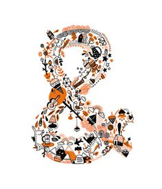 ampersand  by Gemma Correll http://society6.com/product/ampersand_Print?tag=typography #illustration #type #gemmacorrell
