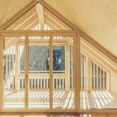 #einfamilienhaus #holzbauweise #wermatswil #kontextuell #denkmalschutz #filterschicht #architecture Divider, Windows, Room, Furniture, Home Decor, Bedroom, Window, Rooms, Interior Design