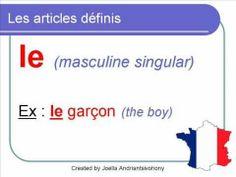 French Lesson 16 - Les articles définis indéfinis partitifs (definite indefinite partitive) - YouTube