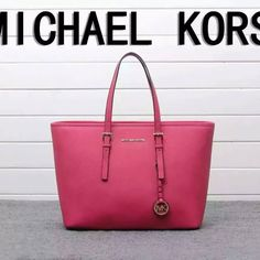 MICHAEL Michael Kors Jet Set Travel Saffiano Leather Tote Rose