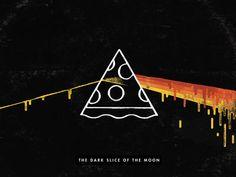 The Dark Slice of the Moon #pizza #pinkfloyd #music