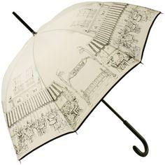 Cafe De Paris Umbrella by Guy de Jean