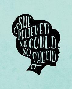 She Believed Triblend Short Sleeve Tee