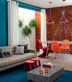Ideia de piso e parede 50 salas pequenas e cheias de estilo - Casa
