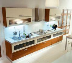 Modern Minimalist Italian Kitchen Design Wooden Style Islands
