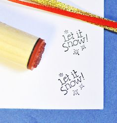 Let it Snow Rubber Stamp by norajane on Etsy, $3.50