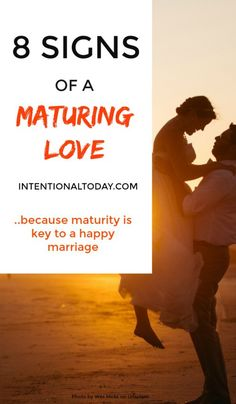 A maturing love takes effort.and lots and lots of grace! Here are 8 signs of a maturing love and how to encourage your marriage to that path Communication In Marriage, Intimacy In Marriage, Strong Marriage, Marriage Relationship, Good Marriage, Happy Marriage, Marriage Advice, Newlywed Advice, Marriage Preparation