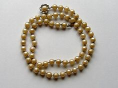1940S FAUX PEARL GLASS necklace by allthingsvintage77 on Etsy