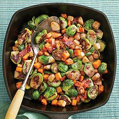 Fall Vegetable Hash | MyRecipes.com      I had something very similar at Zanata's.   I would add cauliflower and take at the turnips out.