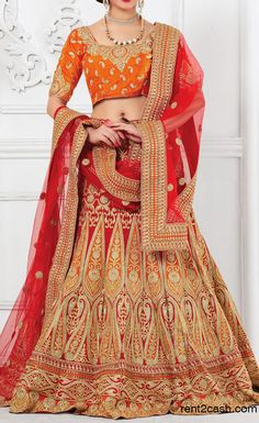 633e0c9cd117 wedding lehengas in red colour.Make the heads turn as soon as you dress up  in this kind of a enticing Deep Scarlet Raw Silk Unstitched Lehenga Choli.