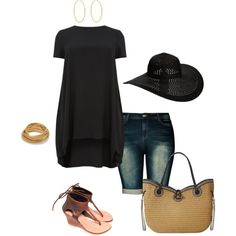 A fashion look from January 2015 featuring black dress, distressed shorts and wedge sandals. Browse and shop related looks.