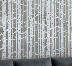 Try wall stencils instead of expensive wallpaper! Cutting Edge Stencils offers the best stencils for DIY décor - stencils expertly designed by professional decorative painters Janna Makaeva and Greg Swisher who have over 20 years of painting experience. We are a reputable stencil company that stands behind its high quality product. We are honored to have your 100% positive feedback :)  This is one of our favorite nature-inspired stencil designs. Serene Birch Forest brings a sense of peaceful…