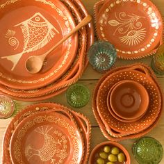 portuguese ceramics. In their kitchen in Avignon. Janet bought from the outdoor market. She is so domesticated, you just love her!