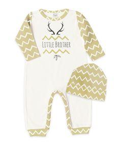 Newborn Boy Take Home Outfit, Baby Boy Little Brother Romper and Hat, Newborn Boy Outfit, Baby Boy Clothes, TesaBabe, Tesa Babe