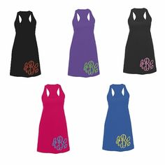 Ladies Monogrammed Tank Dress or Cover Up