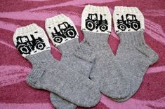 Traktoriralli | Novita knits Baby Socks, Cool Socks, Double Knitting, Knitting Socks, Mittens, Winter Outfits, Knitting Patterns, Knit Crochet, Gloves