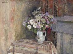 Edouard Vuillard, Fleurs dans un vase, 1905, huile sur carton, palais des beaux arts Lille. http://doudou.gheerbrant.com/?cat=44=17