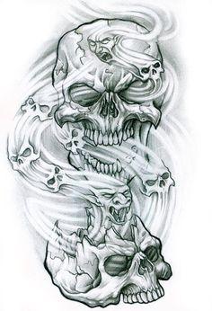 All About Art Tattoo Studio Rangiora Upstairs 5 Good Street, Rangiora 03 310 6669 or 022 125 7761 Evil Skull Tattoo, Skull Rose Tattoos, Skull Sleeve Tattoos, Skull Tattoo Design, Tattoo Design Drawings, Body Art Tattoos, Tattoo Designs, Skull Drawings, Wing Tattoos