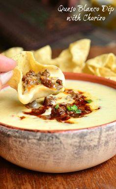 Really nice recipes. Every hour. • Queso Blanco Dip with Chorizo Really nice recipes....